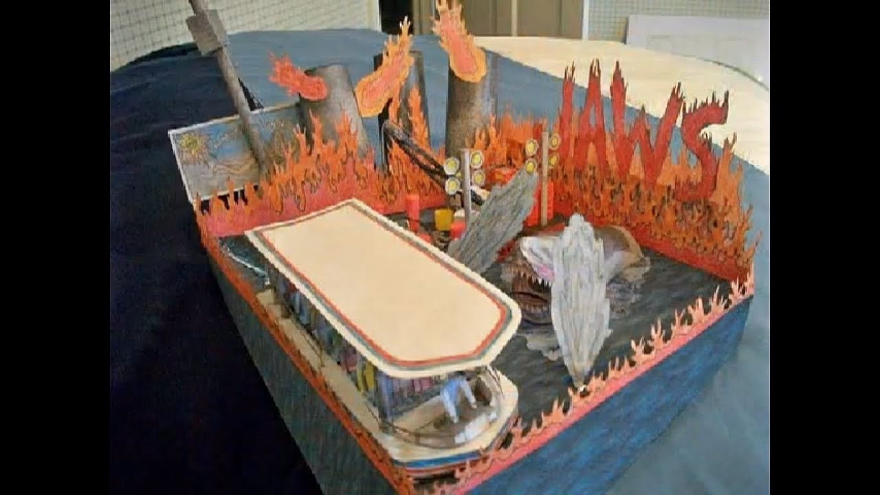 Papercraft Paper Model of Jaws the Ride [My Version]