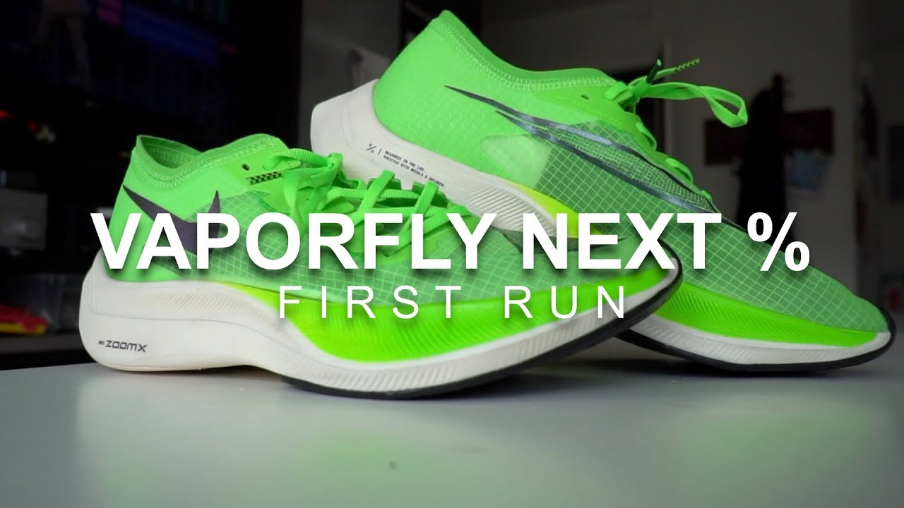 7a0475660d351 Vaporfly Next Percent - First Run - YouTube
