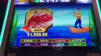 "$HAND PAY$ Jackpot Reel Em In Catch The Big One Video Slot Machine ""Bonus"" $1.75 Max Bet"