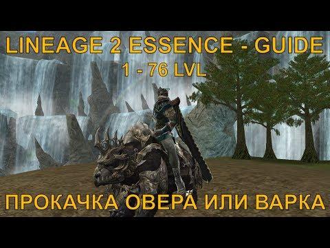 [Lineage 2 Essence] - Гайд по прокачке Овера, Варка 1- 76 Lvl 🤔