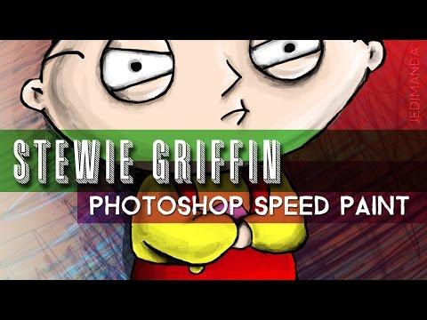 Stewie Griffin Photoshop Speed Paint | Jedimanda