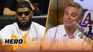 Colin explains why fans in L.A. should embrace LeBron James joining the Lakers | NBA | THE HERD
