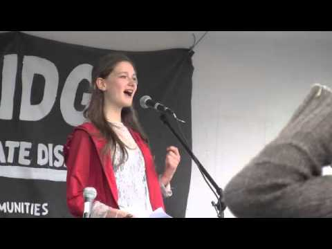 Kate Hodgson at No Enbridge Rally - May 10, 2014