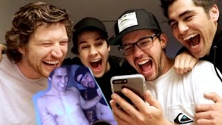 REACTING TO OUR CRINGEY EMBARRASSING PHOTOS!!