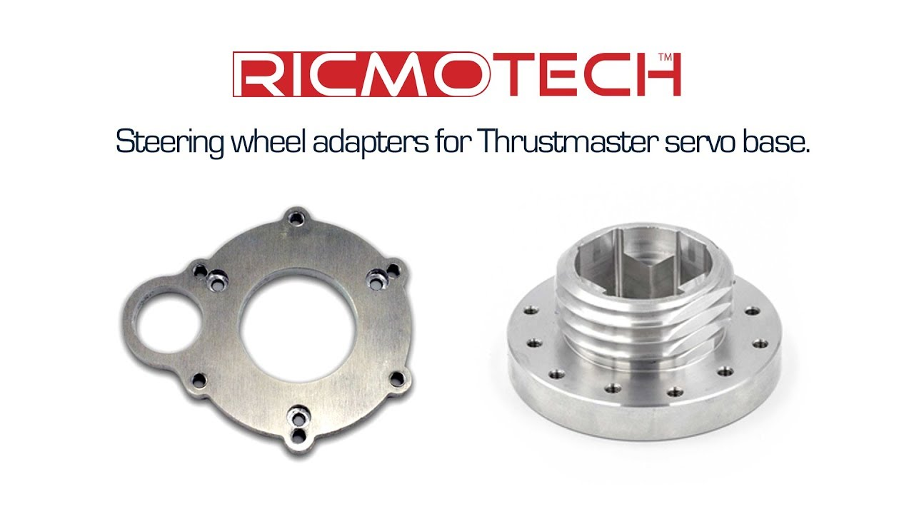 Steering wheel adapters for Thrustmaster servo base