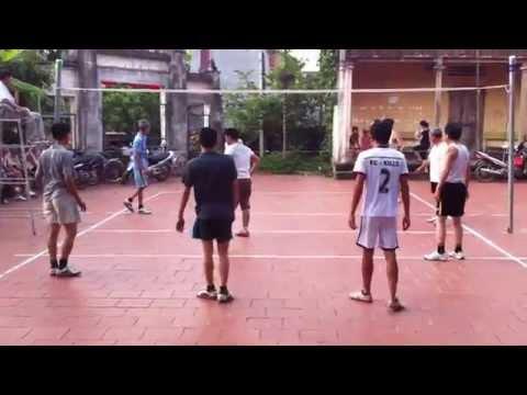Giao lưu bóng chuyền hơi Ba Làng