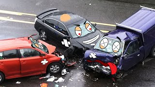 Try not To laugh - Police Car Doodle Chase Drunk Car After Crash | Woa Doodle