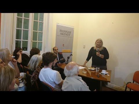 EN VIVO | Exposición de Elisa Carrió y María Eugenia Vidal en el Instituto Hannah Arendt
