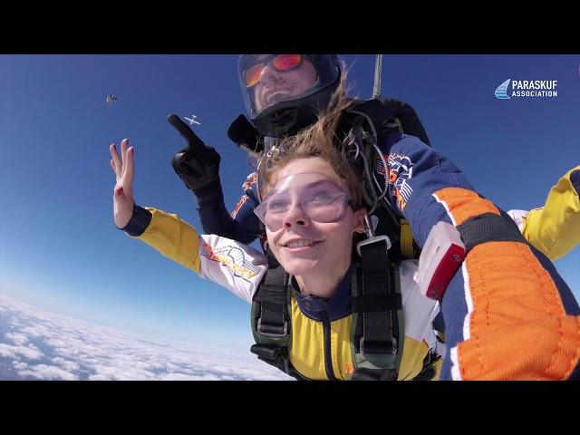 Тандем-прыжок с парашютом на аэродроме Бородянка