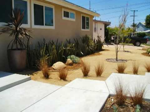 No More Lawn Drought Tolerant San Diego Landscape Youtube