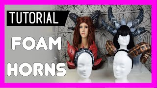 DIY Easy Foam Horns - Tutorial