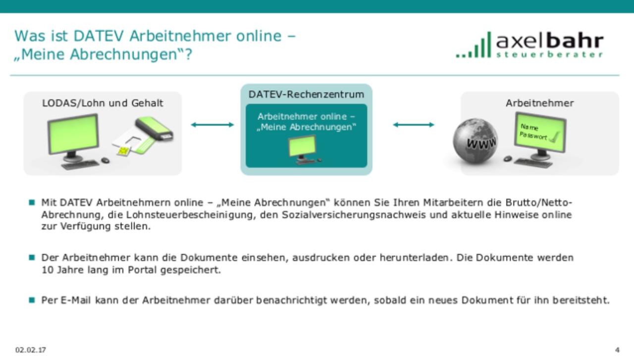 Arbeitnehmer online digitale lohndokumente