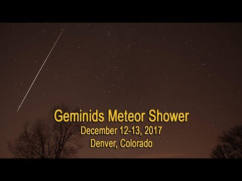 ⭑ GIMINIDS METEOR SHOWER , DECEMBER 12-13, 2017 ⭑