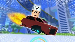ROBLOX: I WENT TO THE WORLD OF FLYING CARS WITH ROLLERCOASTER! -Play Old man