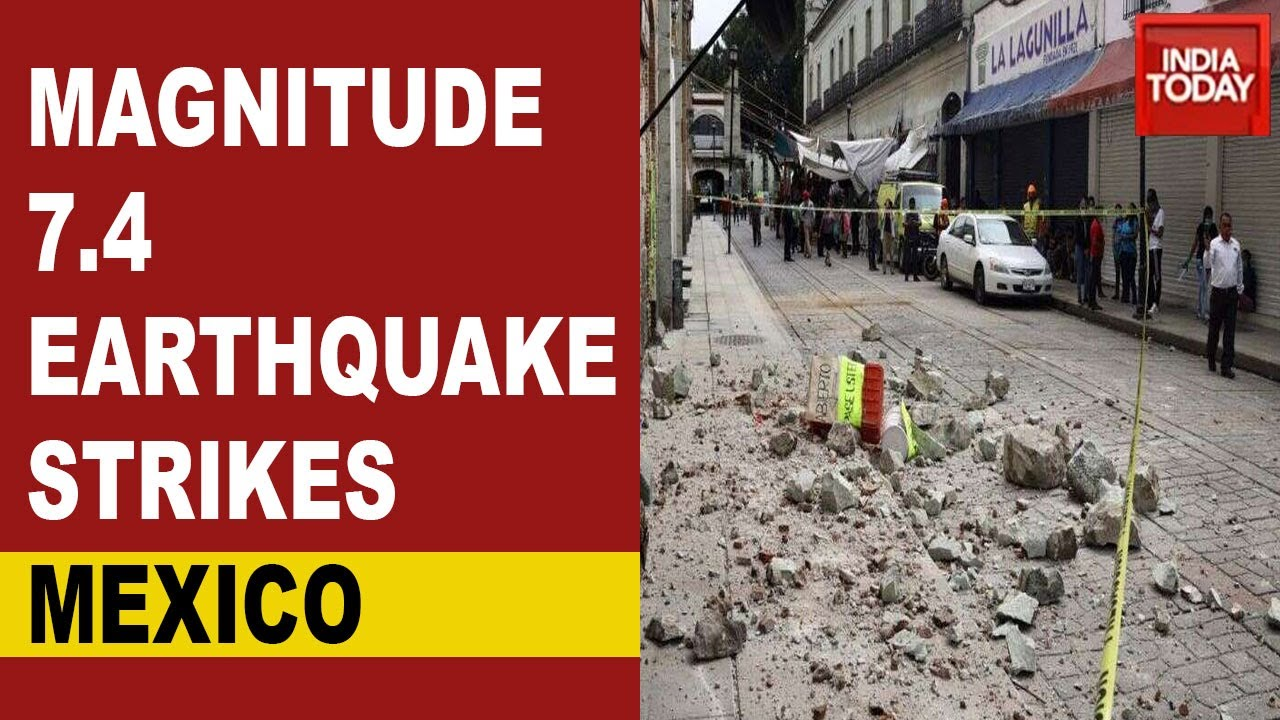 Mexico Earthquake A 7 4 Magnitude Earthquake Hits Southern Mexico Initial Tsunami Alert Dropped Youtube
