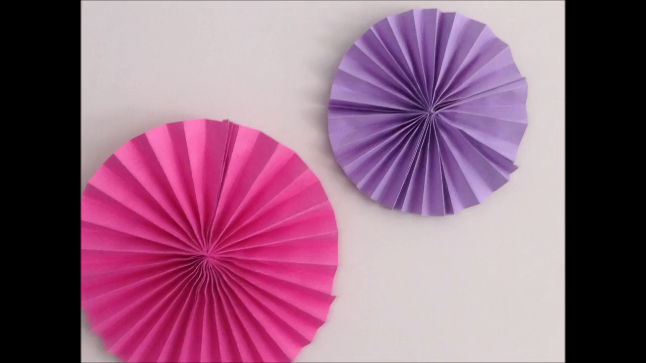 Diy Paper Rosette Birthday Decorations With Paper Kids