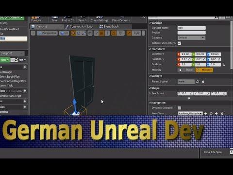 """Unreal Engine 4 Tutorial Deutsch [#023] - Tür Mit """"CLASS BLUEPRINT"""" Teil 1"""