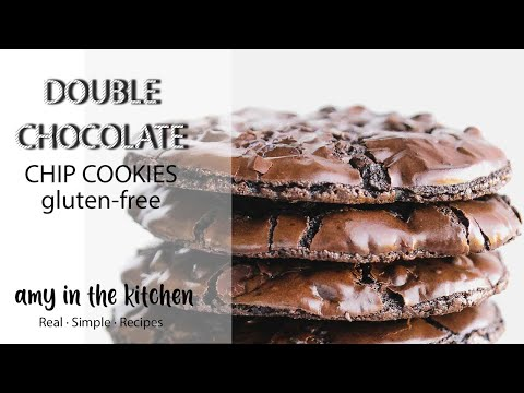 DOUBLE CHOCOLATE CHIP COOKIES RECIPE - GLUTEN-FREE!