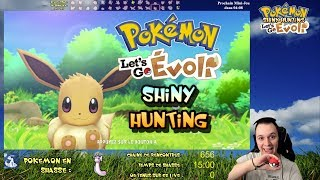 🔴LIVE - Shasse de Minidraco avec charme chroma ✨ Shiny Hunting Pokémon Let's Go Évoli (Switch) #19