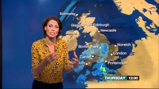 Nina Ridge Last BBC Weather 2015 08 12