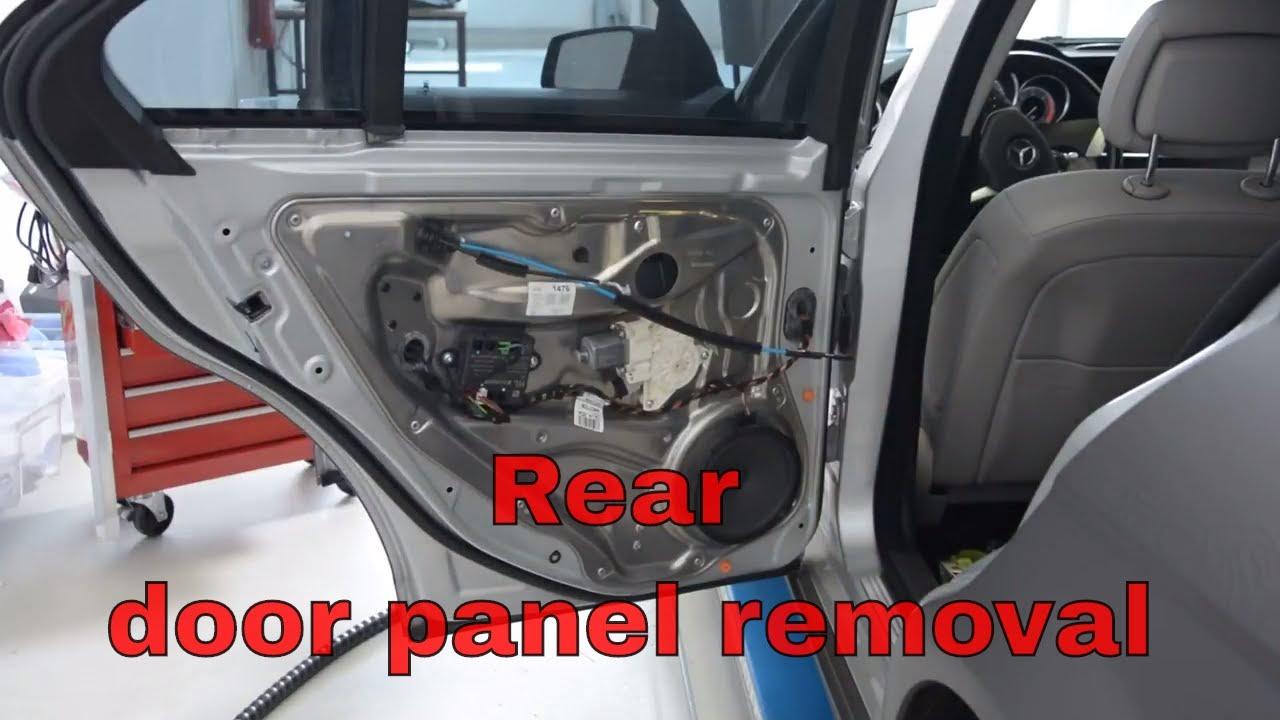 Garage Door Trim >> Rear door panel removal Mercedes Benz C Class w204 - YouTube