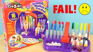 Cra-Z-Art Scented Marker Creator DIY Craft Your Own Scented Markers FAIL