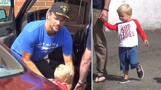 X17 EXCLUSIVE - Josh Duhamel's son Axl has a shout out for the ladies