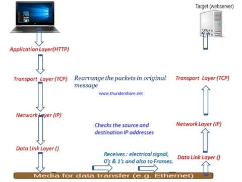 TCP/IP Layers : How do TCP IP layers work in Hindi, TCP/IP model protocol suite
