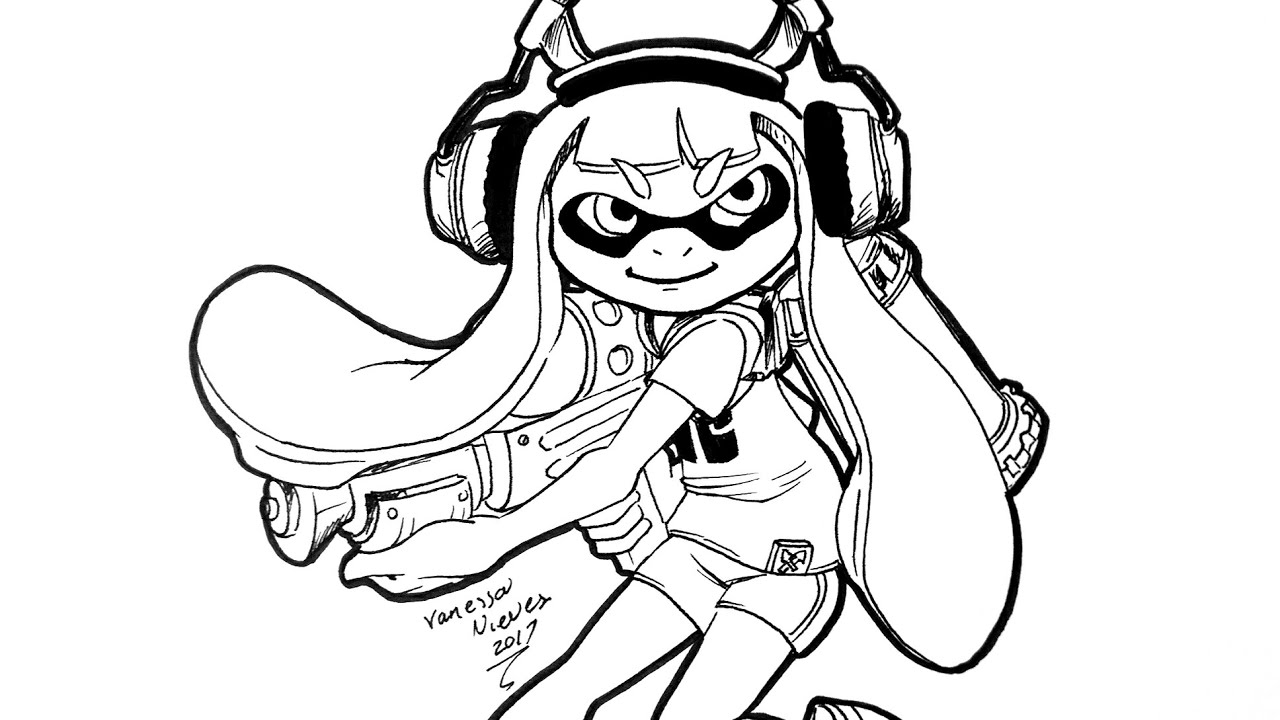 How To Color Inkling Girl Youtube