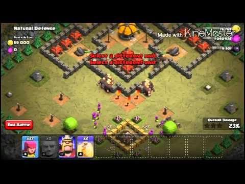 CLASH OF CLANS | SINGLE PLAYER MAPS | MAP #30 | Natural Defense
