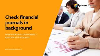 Check Financial Journals in Background in Business Central