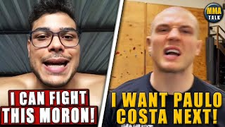 Paulo Costa FIRES BACK at Marvin Vettori, Vettori back in gym 2 days after UFC 263, Bisping, Chimaev