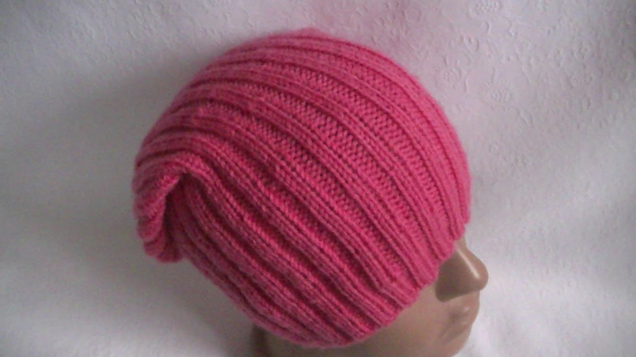 вязание шапки узором резинка 2 2knitting Hats Pattern Gum 2 2