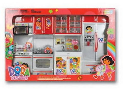 31907e632 Dora Toy Kitchen Set For Children(Unboxing video) - YouTube