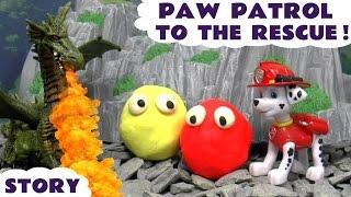 paw patrol thomas and friends play doh dragon rescue   minions peppa pig batman frozen