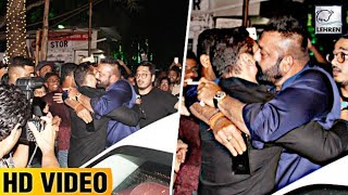 Salman Khan HUGS Sanjay Dutt, Big Fight Ends At Ambani's Ganpati Celebration 2017