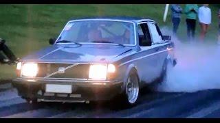 Bamse's Turbo Volvo Burnouts @ Vantaa Cruising 2015