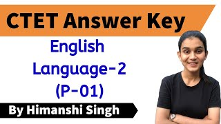 CTET-2019 Answer Key | English Language-02 | Paper-01 | Let's LEARN
