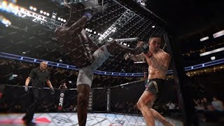 Robert Whittaker vs. Israel Adesanya (EA Sports UFC 3) - CPU vs. CPU