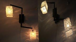 Best way to make a wrapped balloon lamp | newspaper & wool lamp | night hanging lampshade | lantern