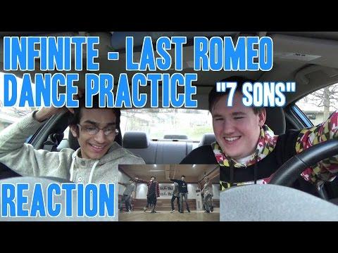 "Infinite - Last Romeo Dance Practice Reaction ""7 Sons"""