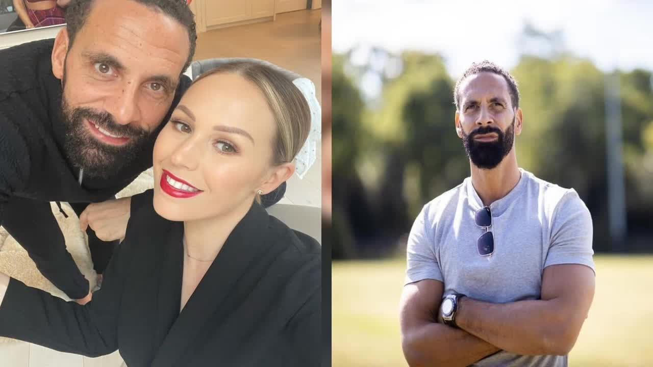 Rio Ferdinand, 42, admits to dying his beard after it went grey in ...