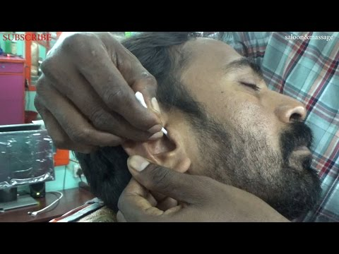 Indian Real Ear Cleaning / Massage with Ear wax  ~ ASMR cs.