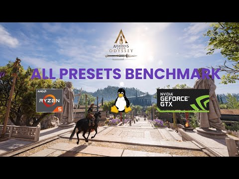 [ LINUX GAMING ] Assassin's Creed Odyssey - All Presets Tested | Ryzen 5 2600 + GTX 1660 SUPER |