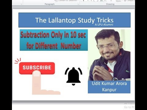 Basic of Math/subtraction by vedic method/subtraction by unit method/for sbi /for ssc