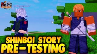 Shinobi Story Pre-Testing Gameplay | First Great Shinobi War! | Roblox | iBeMaine