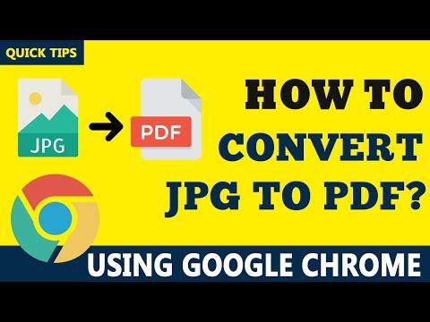 How to Convert JPG to PDF Using Google Chrome - Save JPG as PDF
