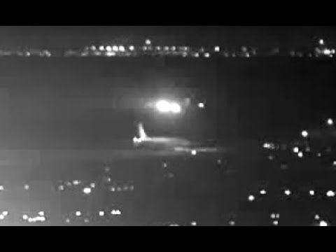 Security camera shows Air Canada's near miss