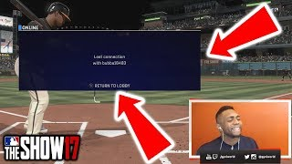 I did the same thing to him and he rayge quit 😂 |MLB The Show 17 Battle Royale| Diamond Dynasty