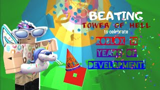 Beating TOWER OF HELL To Celebrate Roblox's 13th Birthday!| Roblox Tower of Hell (re-upload)